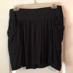 NWT! Women's black mini skirt size 2